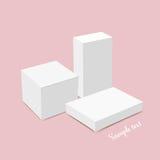 Blank white box mock up. Vector illustration Royalty Free Stock Image