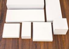 Blank white box mock up Stock Photography