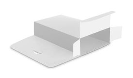 Blank white box Stock Photography