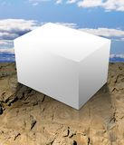 Blank white box outdoors Royalty Free Stock Image