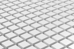Blank white boxes in pattern. Stock Image