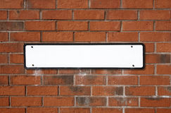 Blank white British street sig Stock Images