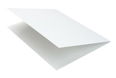 Blank white brochure on a gray background. 3d rendering isolated on white background Stock Photo