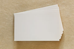 Blank White Business Cards royalty free stock photo