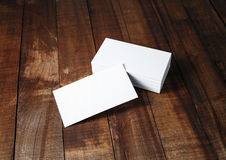 Blank white business cards Stock Images