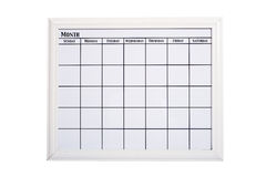 Blank White Calendar Stock Photo