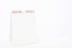 Blank white Calendar selective focus on red binders Stock Photography
