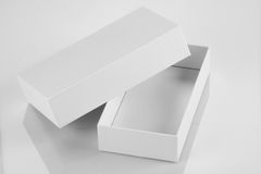 Blank White Card Board Box for Mockup Stock Image