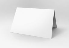 Blank white card Stock Image