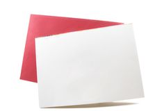 Blank white card, empty copyspace for text, design Stock Photo