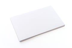 Blank white card Stock Image