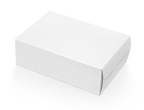 Blank white cardboard box. Blank cardboard box isolated on white background with clipping path Stock Photos