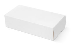 Blank white cardboard box. Isolated on white background with clipping path Stock Photo
