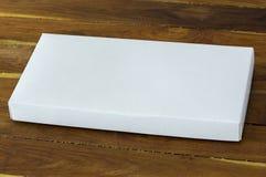 Blank white cardboard package box mockup Stock Image