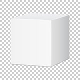 Blank white carton 3d box icon. Box package mockup vector illustration. royalty free illustration