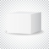 Blank white carton 3d box icon. Box package mockup vector illust Stock Images