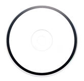 Blank White CD Disk on White background Royalty Free Stock Photography