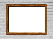 Blank white chalkboard Stock Image