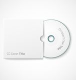 Blank white compact disk with cover mock up Stock Photography
