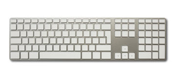 Blank white computer keyboard Royalty Free Stock Photos
