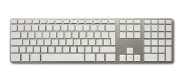 Blank white computer keyboard Royalty Free Stock Photos