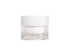 Blank white cosmetic pot Royalty Free Stock Photography