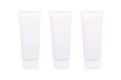 Blank White cosmetic tube pack of Cream Or Gel isolated on white Stock Images