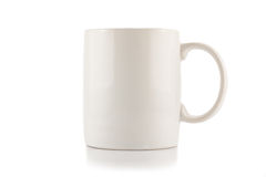 The blank White Cup Stock Photography