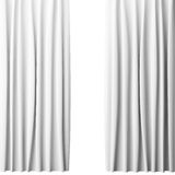 Blank white curtain on white background, 3d Royalty Free Stock Image