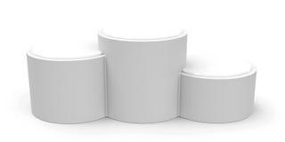 Blank white cylinder podium Royalty Free Stock Photography