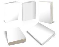Blank White 3-d books Stock Image