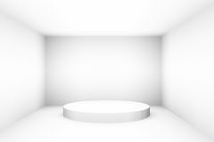 Blank white empty podium for design template pr layout background Stock Image