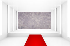 Blank white empty podium with red carpet for backdrop design template pr blank layout background. Blank white empty podium with red carpet for backdrop design Royalty Free Stock Image