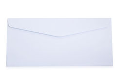 Blank White Envelope. Isolated On White Background Royalty Free Stock Photo