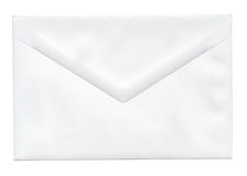 Blank white envelope Royalty Free Stock Image