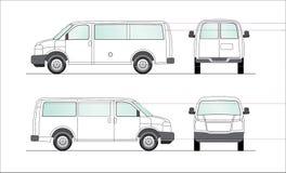blank white för leveransillustrationskåpbil stock illustrationer