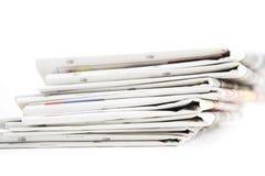 blank white för paper bunt för tidningar övre arkivbild
