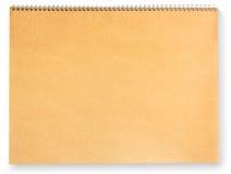 blank white för paper rest för bok brown isolerad Royaltyfria Bilder