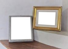 blank white för rambildvägg Arkivbilder