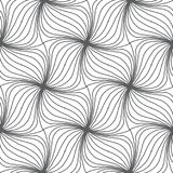 Monochrome hand drawn swrils seamless repeating pattern backgrou Stock Photography