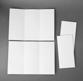Blank white folding paper flyer. Identity design, corporate templates, company style, blank white folding paper flyer Royalty Free Stock Image