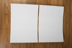 Blank white folding paper flyer Royalty Free Stock Photo