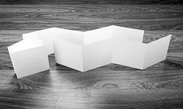 Blank white folding paper flyer Stock Image