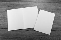 Blank white folding paper flyer Stock Image