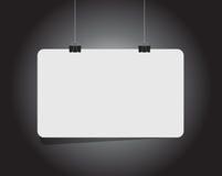 Blank white hanging banner illustration Stock Photo