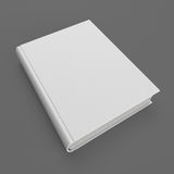 Blank white hardcover book. On gray background Stock Photo
