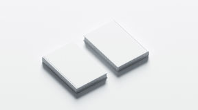 Blank white hardcover books mock up set, front and back. Side view, 3d rendering. Empty notebook cover mockups, isolated. Bookstore branding template. Plain Royalty Free Stock Images