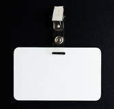 Blank white id card Stock Image