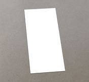 Blank white 4x8 inch flyer collection - 7. Blank white paper flyer isolated on Background Stock Image