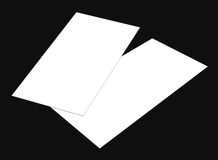 Blank white 4x8 inch flyer collection - 10. Blank white paper flyer isolated on Background Stock Images